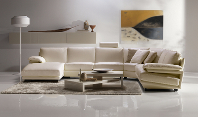 Natuzzi Leather Sofa on Natuzzi   Plaza Cream Leather Sectional   Scandinaviafurniture Com